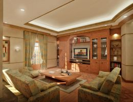 Living room by aboushady81