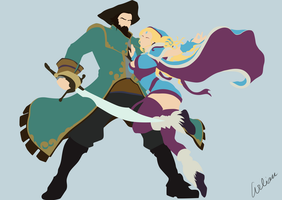 Kunkka and CrystalMaiden by Arlian