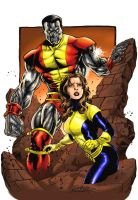 Colossus and Kitty color by Buchemi
