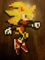 Super Sonic Bead Art by nayrb00