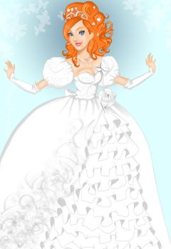 Giselle's wedding gown by Mize-meow