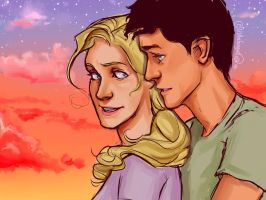 Percabeth Sunset by lizthefangirl