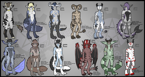 Original Species Mixed Adopts- #1 (PRICE DROP) by NuclearZombie18