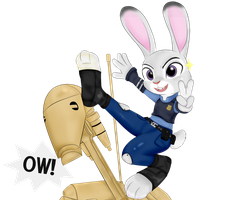 Judy and her Battle Droid.....trainer? by Officer-JudyHopps