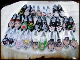 Anime Shoes by OpaliChan