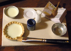 Lemon Meringue Pie Prep Board WIP by sonickingscrewdriver