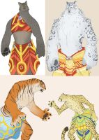 Feline species designs by Chopstuff