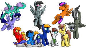 Bristol Bronies Group Commission by timsplosion