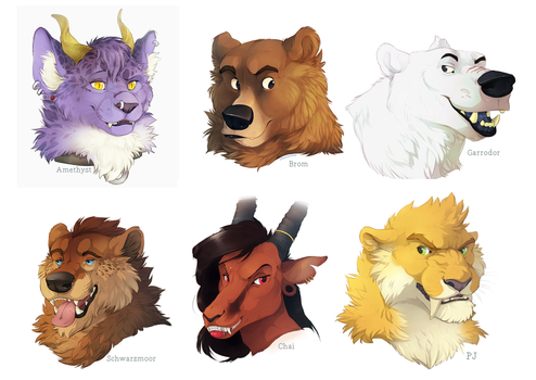 Twitter Icons by BearlyFeline
