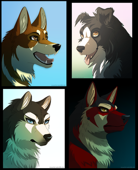 Headshot Commissions batch 2 by Valixy