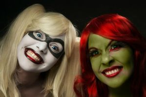 YOU WILL DIE BATMAN !!!- Poison Ivy, Harley Quinn by LiliumLucy13