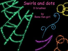 Swirls and Dots 11 brushes by reno-fan-girl