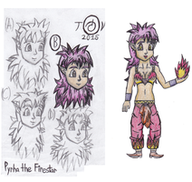 Complete Reference of Pyrha the Firestar by TempestVortex
