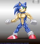 muscular Sonic by ginkaze