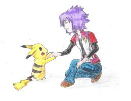 Pikachu and Friend by elf-human