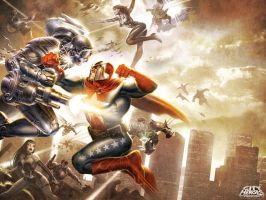 CITY of HEROES Key Art by DNA-1