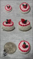 Strawberry... Tart? Squishy Charm Thing by SD-DreamCrystal