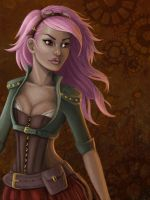 Steampunk Lady by iMMuhUnic0rn