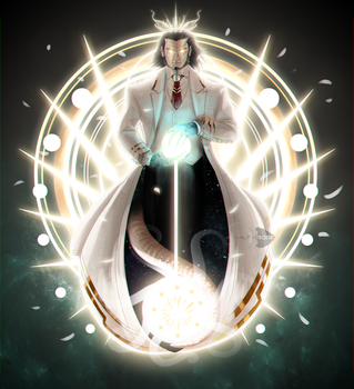 Crowned God Of Light by half-rose