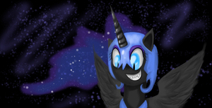 Nightmare Moon - Wallpaper - by iSmellMusic