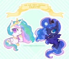 Cute Little Royal Sisters by Scarlet-Songstress