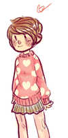 Pink Sweater Hearts Adopt CLOSED by hanecco