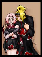 Deidara x Sakura - Colour by Avro-Chan