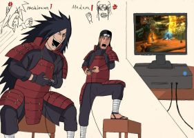 Naruto - Madara Vs Hashirama Gameplay by Katong999
