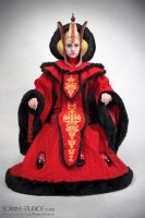 Amidala Throne Room Invasion costume sitting by RebelAllianceBarbie