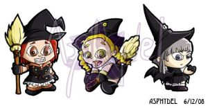 Tweeny Witches Sticker Set 1 by Asphydel