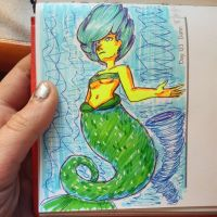 Highlighter Mermaid by Monochrome-Colors