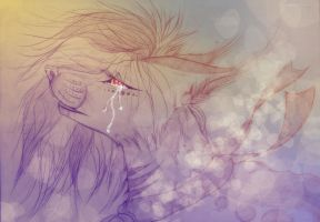 . I will smile through tears . by RedRibbon-Wolf