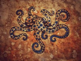 Greater Blue Ringed Octopus by KenazArt