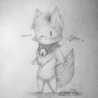 old sketch of mittens by mittens360