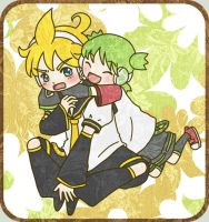 Yotsuba and Len by superdonut