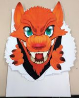 3-Dimensional layered wolf poster - Final design by Affanita