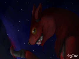 Foxy The Pirate (bloody) by FireFlah532