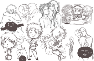 Sketch Chibis + by NelyKunn