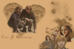 Ron and Hermione by desiredwings