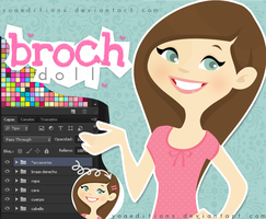 Broch Doll PSD Y PNG by yoaeditions