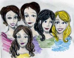 Mr. Darcy's Daughters Colored by Northstar2790