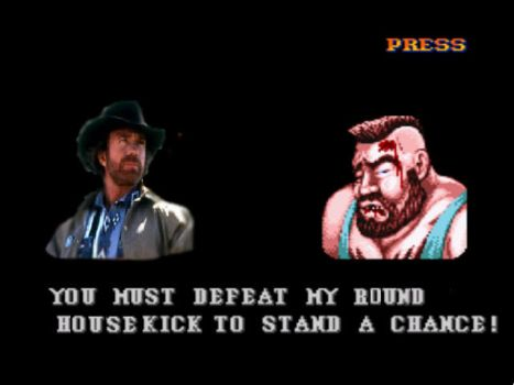 Chuck Norris in Street Fighter by DogMan93
