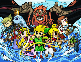 wind waker illustration by sonicsama