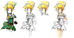 Lire Eryuell - Grand Chase - Color Progress by DanTH