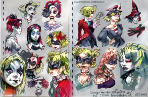 Harley Quinn's sketches by iricolor