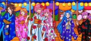 FFXIII girls: Festival of colors by dagga19