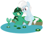 Psionic Frost and Vitrean Jade by JennieOo