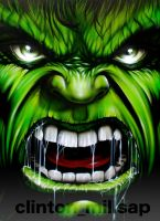 Hulk painting on canvas by clintonmillsap