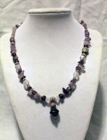 Purple Chip Necklace - FOR SALE by Thy-Darkest-Hour