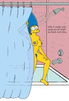 Marge in the shower by HomerJySimpson